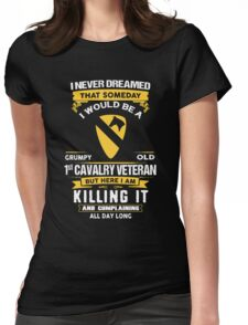 Military - 1st Cavalry Division Grumpy Womens Fitted T-Shirt