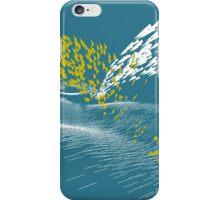 Golden Birds (white) iPhone Case/Skin