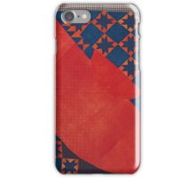 HISTORIC AND RARE PIECED LINSEY-WOOLSEY 'VARIABLE STAR' REVOLUTIONARY WAR QUILT FROM THE FAMILY OF WILLIAM MCCOMB, PENNSYLVANIA OR OHIO, CIRCA  iPhone Case/Skin
