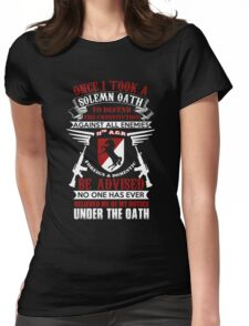Military - 11th A.c.r   Solemn Oath Womens Fitted T-Shirt