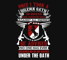 Military - 11th A.c.r   Solemn Oath Unisex T-Shirt