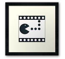 Pac-Mac Movie Film Framed Print
