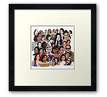 Aubrey Plaza collage  Framed Print
