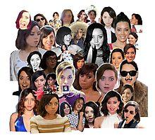 Aubrey Plaza collage  Photographic Print