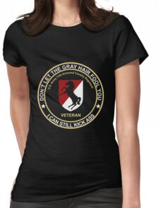 Military - Blackhorse Gray Hair Womens Fitted T-Shirt