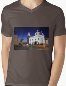 Oia - Santorini Mens V-Neck T-Shirt
