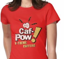 Caf-Pow - Spatter Distressed Variant Womens Fitted T-Shirt