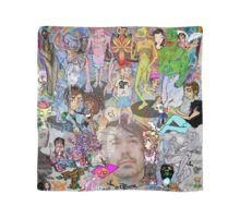 head in cartoon land Scarf