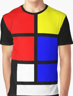 Mondrian style design in basic colors Graphic T-Shirt