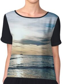 Ocean Sunset, ft. Boat Chiffon Top