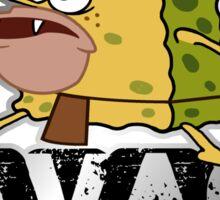 cave man savage spongebob Sticker