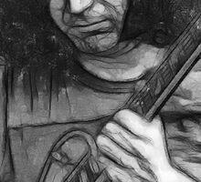 """Jerry Garcia - """"Young Dark Star"""" 1967 Grateful Dead Sticker"""