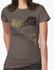 Golden Birds Womens Fitted T-Shirt