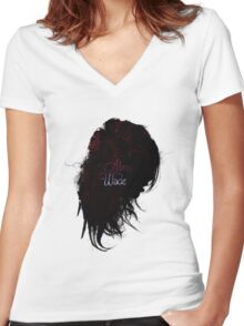 A Conduit For His Evil Women's Fitted V-Neck T-Shirt