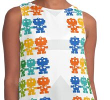 Rainbow Robots holding hands Contrast Tank