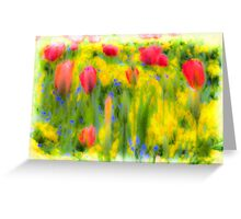Pastel Summer Flowers  Greeting Card
