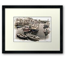 Waiting to Set Sail - Cornwall Framed Print