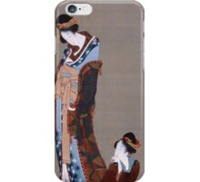 Vintage famous art - Hokusai Katsushika - Two Beauties iPhone Case/Skin