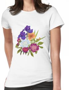 Floral Graphic Design Womens Fitted T-Shirt