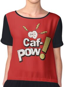 Caf-Pow - Distressed Spatter Logo Variant Chiffon Top