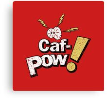 Caf-Pow - Distressed Spatter Logo Variant Canvas Print