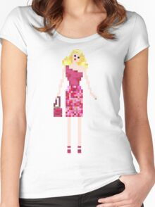 GLAMOROUS BLONDE DOLL Women's Fitted Scoop T-Shirt