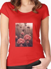 """Blossoms..."" Women's Fitted Scoop T-Shirt"