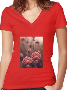 """""""Blossoms..."""" Women's Fitted V-Neck T-Shirt"""