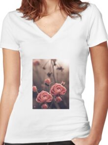 """Blossoms..."" Women's Fitted V-Neck T-Shirt"