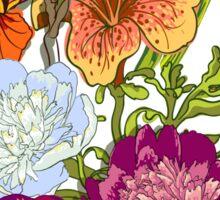 Floral Graphic Design Sticker