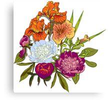 Floral Graphic Design Canvas Print