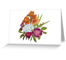 Floral Graphic Design Greeting Card