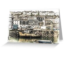 Village Harbour - Cornwall Greeting Card