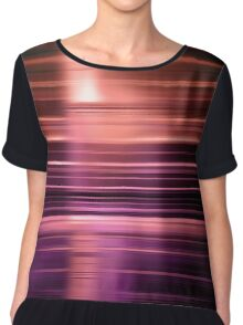 Shiny purple speed blur  Chiffon Top