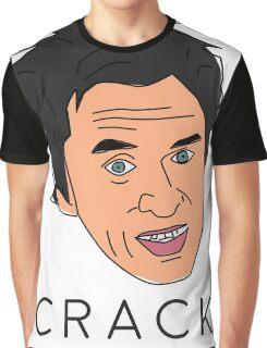 Peep Show Super Hans Crack Graphic T-Shirt