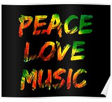Music Peace Love Poster