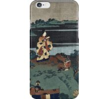 Vintage famous art - Hokusai Katsushika - The Exiled Poet Nakamaro iPhone Case/Skin