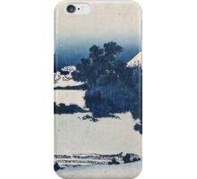 Vintage famous art - Hokusai Katsushika - Shichirigahama In Suruga Province iPhone Case/Skin