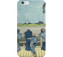 Vintage famous art - Hokusai Katsushika - Sazai Hall Of The Five-Hundred-Rakan Temple iPhone Case/Skin