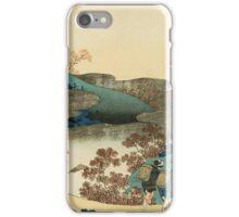 Vintage famous art - Hokusai Katsushika - Japanese landscape iPhone Case/Skin