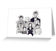 Addams family quotes Greeting Card