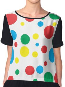 Colourful Polka Dots Chiffon Top