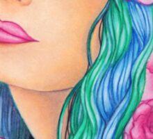 Begonia [MixMedia Artwork] Sticker