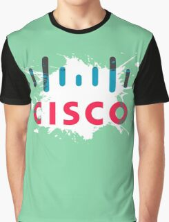 Cisco Logo Splat Graphic T-Shirt