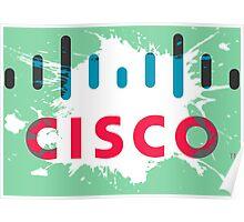 Cisco Logo Splat Poster
