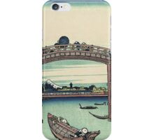 Vintage famous art - Hokusai Katsushika - Japan Under Mannen Bridge At Fukagawa iPhone Case/Skin