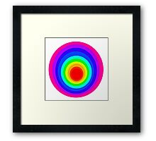Colorful Spirals Framed Print