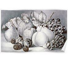 Fruit piece - 1870 Poster