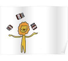 The lion with the nutella Poster