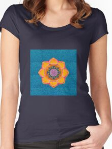 mandala and lotus Women's Fitted Scoop T-Shirt